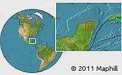 Satellite Location Map of Cuncunul