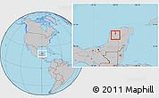 Gray Location Map of Dzan