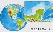 Physical Location Map of Dzan