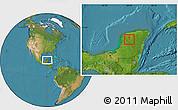 Satellite Location Map of Dzan
