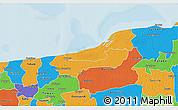 Political 3D Map of Dzilam Gonzalez