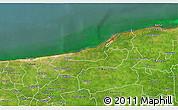 Satellite 3D Map of Dzilam Gonzalez