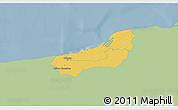 Savanna Style 3D Map of Dzilam Gonzalez, single color outside