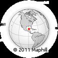 Outline Map of Dzilam Gonzalez