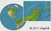 Satellite Location Map of Dzitas