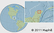 Savanna Style Location Map of Dzitas, hill shading
