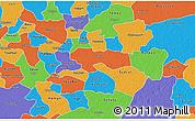 Political 3D Map of Izamal