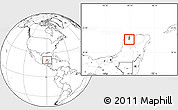 Blank Location Map of Kanasin