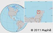 Gray Location Map of Kanasin