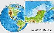 Physical Location Map of Kanasin