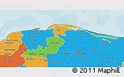 Political 3D Map of Lago