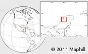 Blank Location Map of Mama