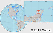 Gray Location Map of Mama