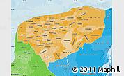 Political Shades Map of Yucatan