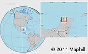 Gray Location Map of Mococha