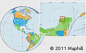 Political Location Map of Mococha