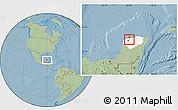 Savanna Style Location Map of Mococha, highlighted parent region, hill shading