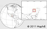 Blank Location Map of Muna