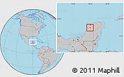 Gray Location Map of Muna