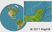 Satellite Location Map of Muna