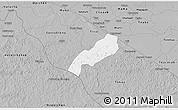 Gray 3D Map of Oxkutzcab