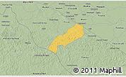 Savanna Style 3D Map of Oxkutzcab
