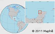 Gray Location Map of Progreso