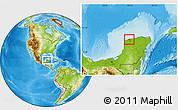 Physical Location Map of Progreso