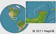 Satellite Location Map of Progreso