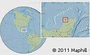 Savanna Style Location Map of Progreso, hill shading
