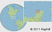 Savanna Style Location Map of Progreso