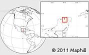 Blank Location Map of Quintana Roo