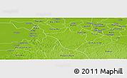Physical Panoramic Map of Santa Elena