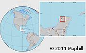 Gray Location Map of Seye