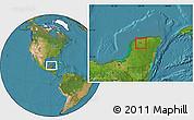 Satellite Location Map of Seye