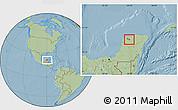 Savanna Style Location Map of Seye, hill shading
