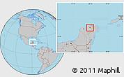 Gray Location Map of Sucila