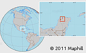 Gray Location Map of Suma