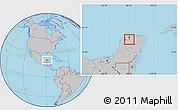 Gray Location Map of Tekanto