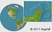 Satellite Location Map of Tekanto