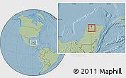 Savanna Style Location Map of Tekanto, hill shading