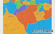 Political 3D Map of Tekax