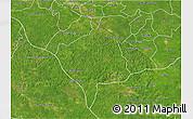 Satellite 3D Map of Tekax