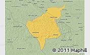 Savanna Style 3D Map of Tekax