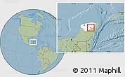 Savanna Style Location Map of Tekom, highlighted parent region, hill shading