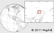 Blank Location Map of Telchac Puerto