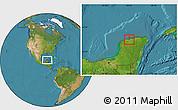 Satellite Location Map of Telchac Puerto