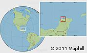 Savanna Style Location Map of Telchac Puerto
