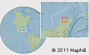 Savanna Style Location Map of Temax, hill shading