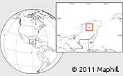 Blank Location Map of Tixmehuac